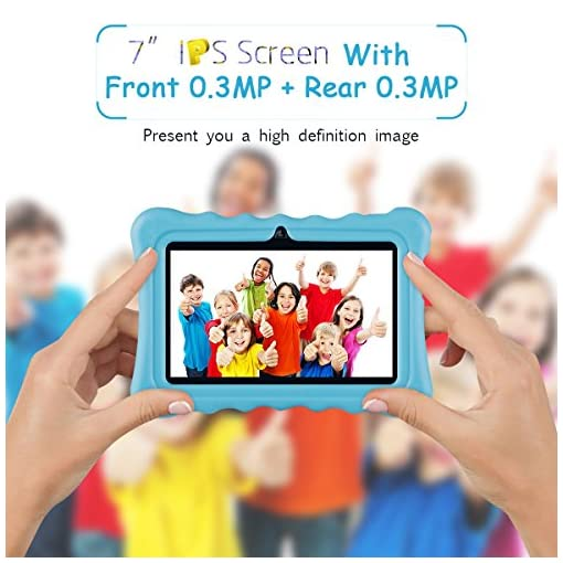 Ainol 7C08x-Tablet infantil de Android 8.1,tablet para niños de 7pulgadas,regalo para niños,1GB+16GB con wifi,doble cámara,tablet de Bob Esponja,juegos educativos,Azul 7