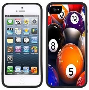 Billiards Pool Balls Handmade iPhone 5 5S Black Case