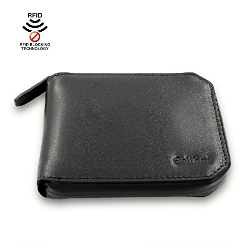 Lecxci Blocking Waterproof Leather Wallets