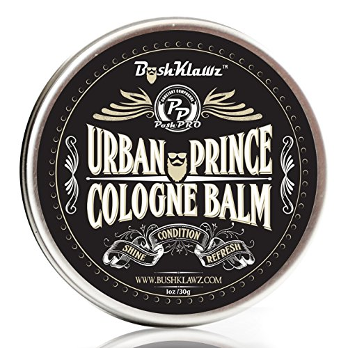 Urban Prince Solid Cologne Balm Fragrance Parfum - Refreshing Modern Urban Gentlemans Manly Scent Alcohol Free Cologne for travel Best Gift for Men