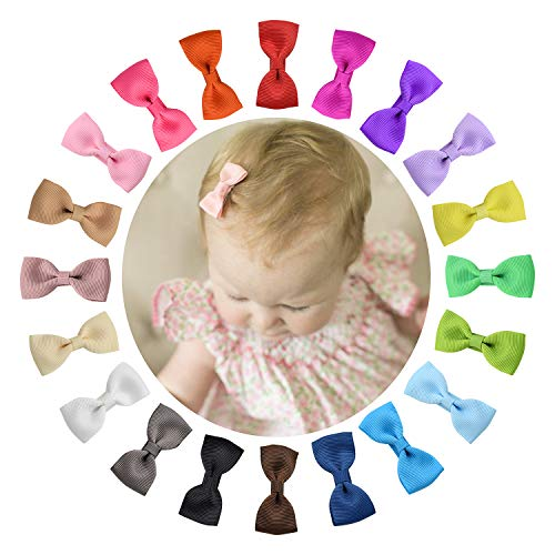 Shemay Tiny 2quot Hair Bows Fully Covered Hair Clips for Baby Girls Toddlers Infants