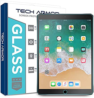 Tech Armor Ballistic Glass Screen Protector Designed for Apple iPad Air 3  (2019), iPad Pro 10 5 inch - Case-Friendly, Tempered Glass, Ultra-Thin,