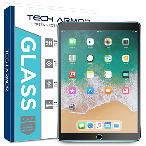 iPad Pro (10.5) Glass Screen Protector, Tech Armor Premium Ballistic Glass Apple iPad Pro 10.5-inch Screen Protectors [1]