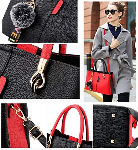 borsa borsa tracolla selvaggio Messenger Borsa nero di a atmosfera singola di mano moda a colore txwHxfqBz