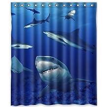 "Supreme-Store Custom Shark Waterproof Polyester Shower Curtain 60"" x 72"" - Bathroom Decor(Fabric)"