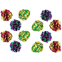 PetFavorites&Trade; Original Mylar Crinkle Balls Cat Toys - 12 Pack