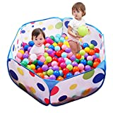 Eocolz Ball Pits for ToddlersBaby Ball Pit Kids Ball TentPlaypen Pop Up Childrens CrawlPlayhouse with Zipper Storage Bag, 3.3 Ft/100CM, Balls Not Included (Blue)