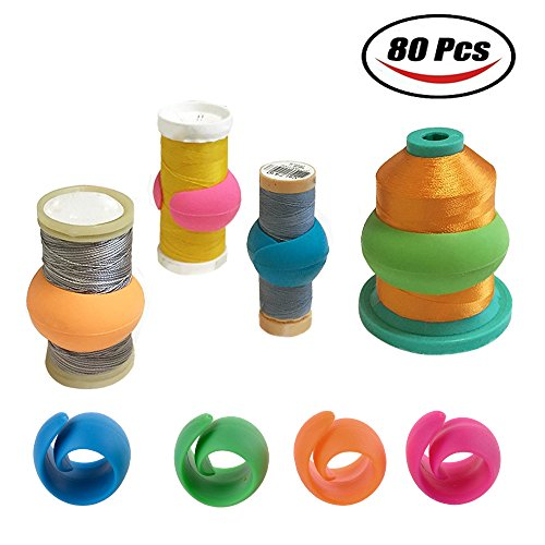 Peels Thread Spool Huggers to Prevent Thread Unwinding No Loose Ends or Thread Tails (80 Pieces) by ohDeb