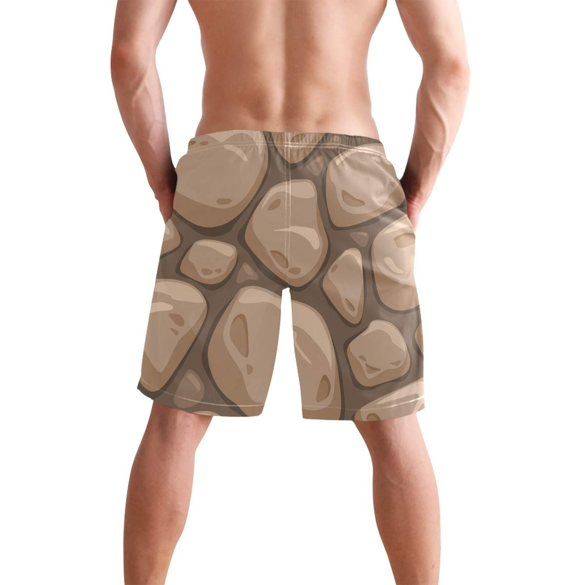 CiCily Men/'s Swim Trunks Pebbles Beach Board Shorts Swimming Short Pants Running Sports Surffing Shorts