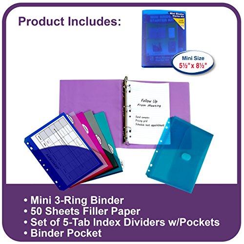 C-Line Mini Binder Starter Kit, Includes Binder, Index