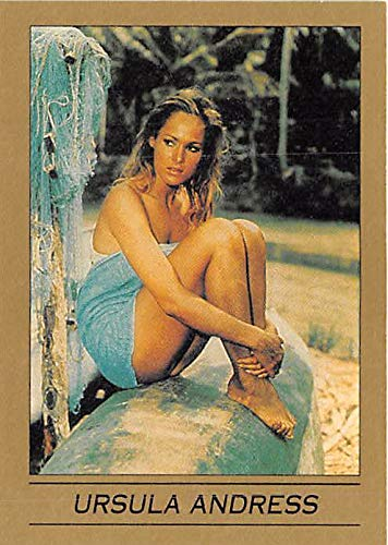 Ursula Andress trading card James Bond 007 1993 Eclipse #21 Dr No Honey Ryder in Towel