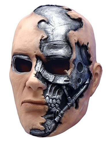 (T-600 Terminator Mask Costume Accessory, Silver, One)