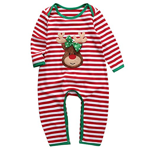 Babys First Christmas Pjs - ONE'S Babys Long Sleeve Striped Christmas
