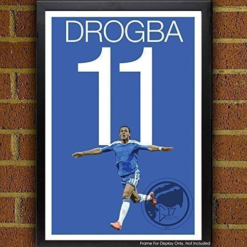 Didier Drogba Poster - Chelsea Soccer Art