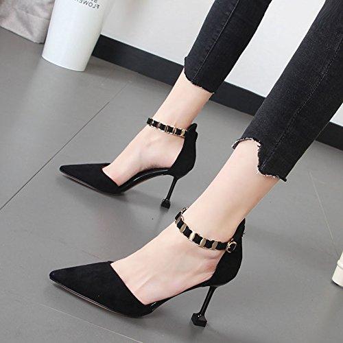 Xue Qiqi stilvolle einzelne Schuhe Frauen Tipp Tipp Tipp hohle geschlitzte Verbindungselemente mit Schuhen die Gitter waren bcaa0e