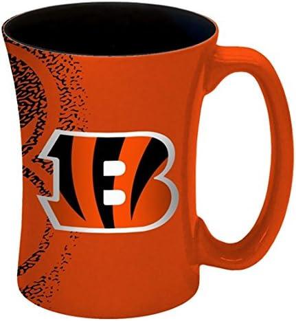 Hall of Fame Memorabilia Cincinnati Bengals 14 oz Mocha Coffee Mug