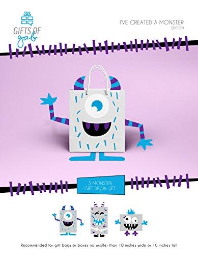 Monster Gift Bag Decoration, Monster Gift Wrap Embellishment