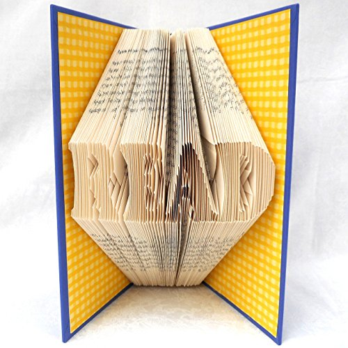 Hand Folded Book Art Sculpture, READ, 1st Paper Anniversary Gift, For Bookworm Librarian Teacher by Dreamscape Studio