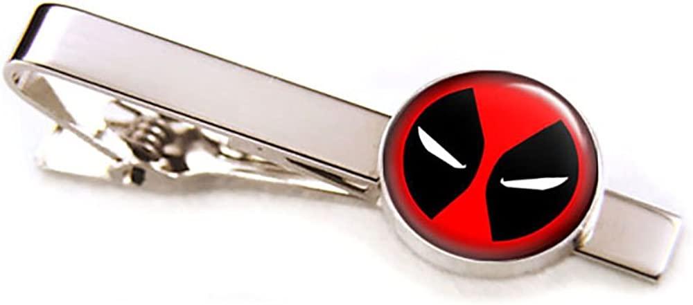 SharedImagination Deadpool Cufflinks, Tie Clip, Avengers Tie Tack, Marvel Jewelry, Cuff Links Link, Groomsmen Gift Wedding Party Gifts Father