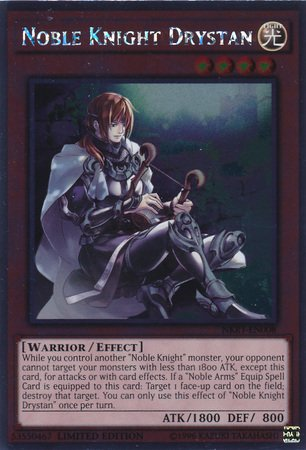 Yu-Gi-Oh! - Noble Knight Drystan (NKRT-EN008) - Noble Knights of the Round Table - 1st Edition - Platinum Rare