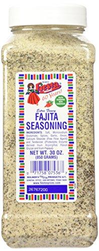 - Bolner's Fiesta Extra Fancy Fajita Seasoning, 30-Ounce Plastic Canister