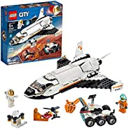 LEGO City Space Mars Research Shuttle 60226 Space Shuttle Toy Building Kit with Mars Rover and Astronaut Minif