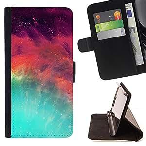Super Marley Shop - Funda de piel cubierta de la carpeta Foilo con cierre magn¨¦tico FOR Samsung Galaxy S3 MINI I8190- Space