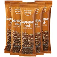 Wickedly Prime Fruit & Nut Bar, Banana Nut, Gluten Free, Kosher, 1.4 Ounce (Pack of 5)