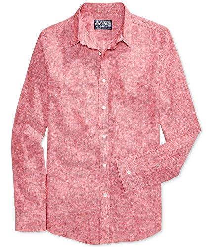 AMERICAN RAG CIE Men's Linen Blend Button-Front Shirt from American Rag