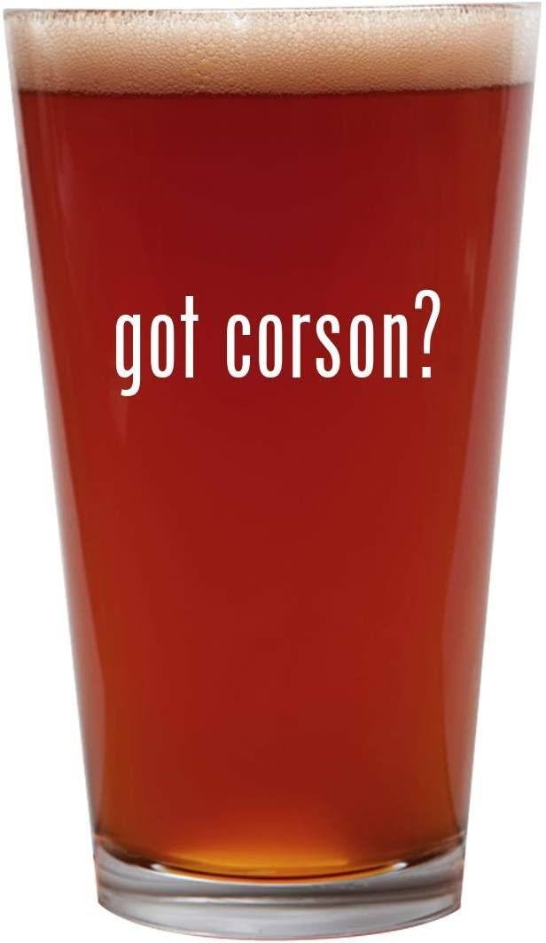 got corson? - 16oz Beer Pint Glass Cup