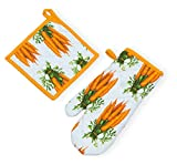 Celebrate the Home URB18246 Oven Mitt and Potholder, Carrots
