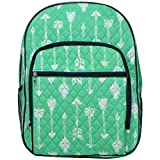 NGIL Quilted Dual Compartment Laptop School Backpack (Arrow Mint)