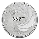 2020 TV 1 oz Silver James Bond 007 BU in