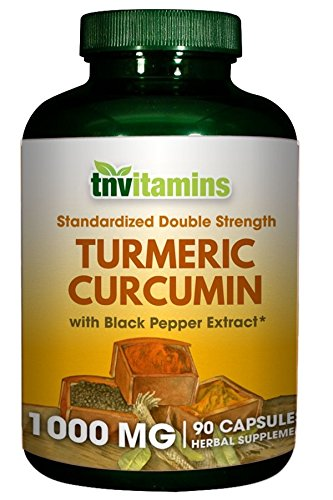 TNVitamins Turmeric Curcumin 1000 Mg with Black Pepper (90 Capsules)