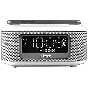 Amazon com: iHome Wireless Bluetooth Stereo, Dual FM Alarm Clock