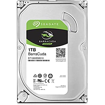 Seagate 1TB BarraCuda SATA 6Gb/s 64MB Cache 3.5-Inch Internal Hard Drive (ST1000DM010)