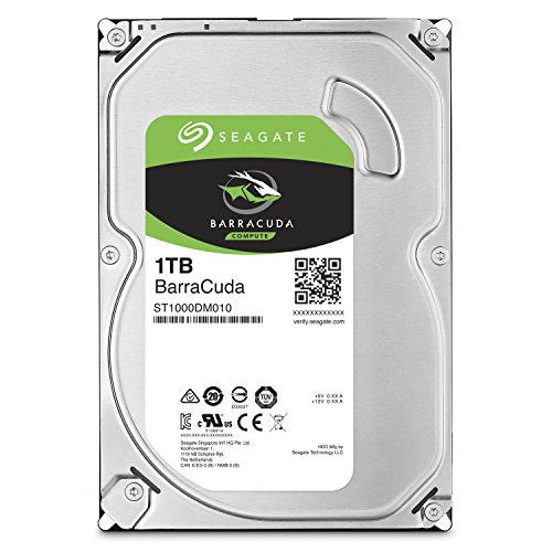Seagate BarraCuda Internal Hard Drive 1TB SATA 6Gb/s 64MB Cache 3.5-Inch (ST1000DM010)