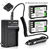 Kastar Battery (X2) & Travel Charger Kit for Olympus BLM-1, BLM-01, PS-BLM1 and Olympus C-5060, C-7070, C-8080, E-1, E-3, E-30, E-520, EVOLT E-300, E-330, E-500, E-510 Camera