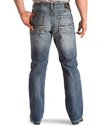 Ariat Men's M4 Maxwell Low Rise Relaxed Fit Jeans Boot Cut Blue 30W x 32L - Ariat Low Rise Jeans