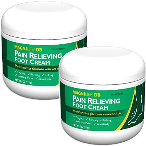 (Set/2) MagniLife Pain Relieving Foot Cream - Calms Nerves In Feet And Toes (Best Foot Pain Relief Cream)