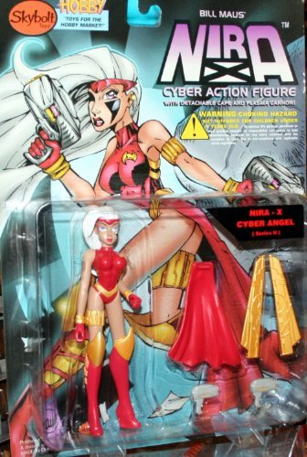 (Bill Maus' Nira-X Cyber Angel Action Figure with Detachable Cape and Plasma Cannon - Series II)