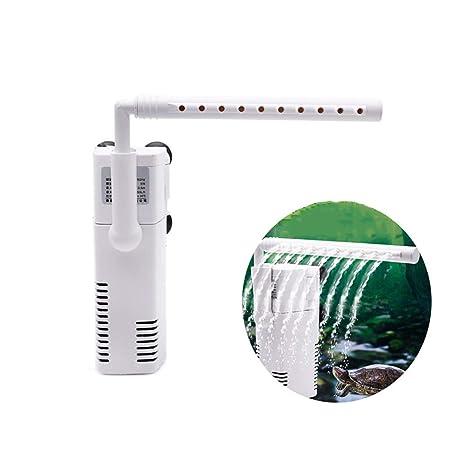 DJLOOKK Filtro Acuario Filtro Interno Acquario Mini Pompa Sommergibile Multifunzione 3 In 1 con Portata Regolabile