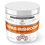 Genius Mushroom – Lions Mane, Cordyceps and Reishi – Immune System Booster & Nootropic Brain Supplement – Wellness Formula for Natural Energy, Stress Relief, Memory & Liver Support, 90 Veggie Pills For Sale