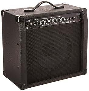 monoprice 40 watt 1x10 guitar combo amplifier black with spring reverb 10 inch 4. Black Bedroom Furniture Sets. Home Design Ideas