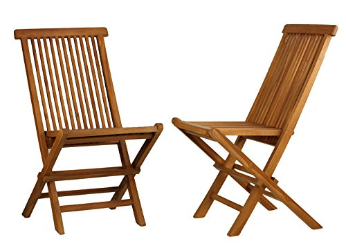 Bare Decor BARE-DC1021 Vega Outdoor Folding Chair, Set of 2, Teak - Set of 2 folding chairs Geniune Teak Wood is naturaly mold and mildew resistant Chairs can be easily folded for storage - patio-furniture, patio-chairs, patio - 51h38r5hiaL -