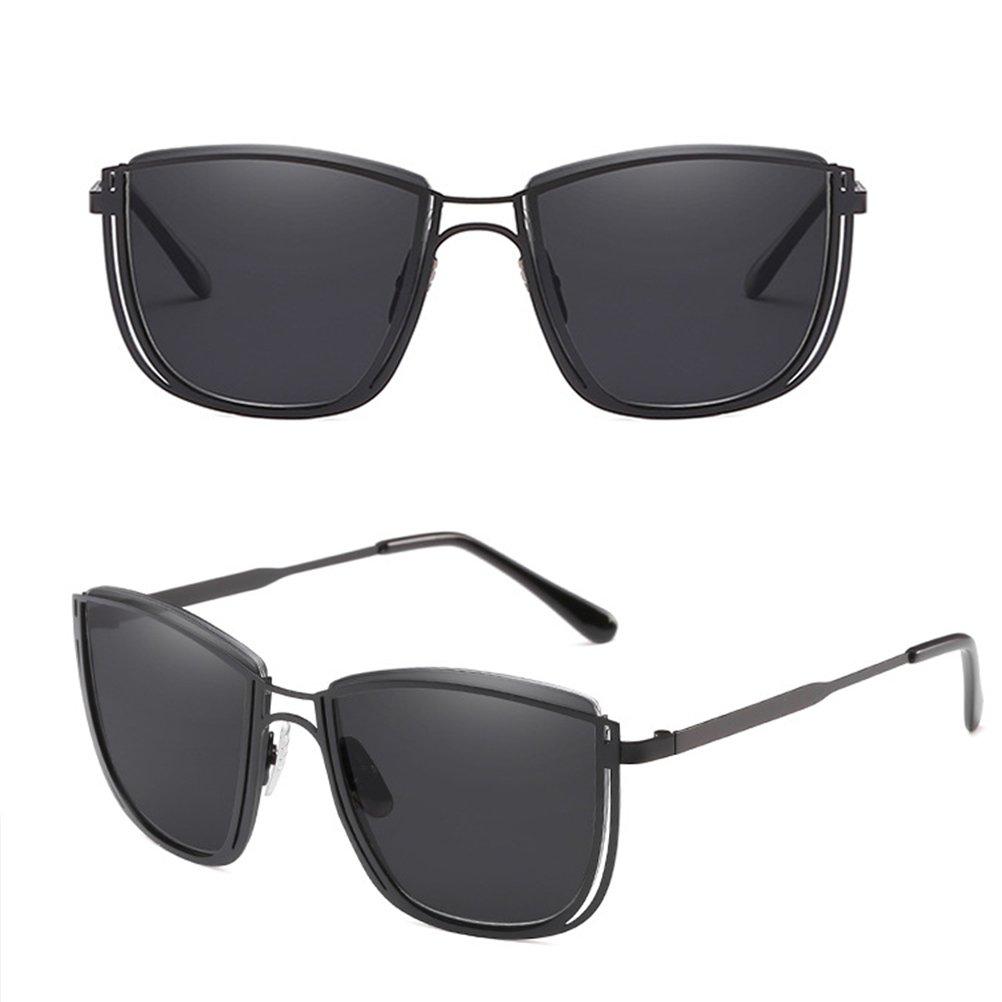 Zhhlaixing Retro Design Femmes et Hommes Sunglasses Lunettes de Soleil Matériel de Qualité en Métal Avec étui à Lunettes Vg8rs