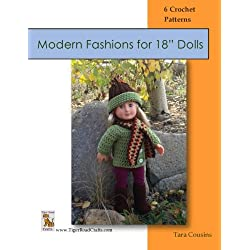 "Modern Fashions for 18"" Dolls: 6 Crochet Patterns (Kirsten's Doll Closet) (Volume 1)"