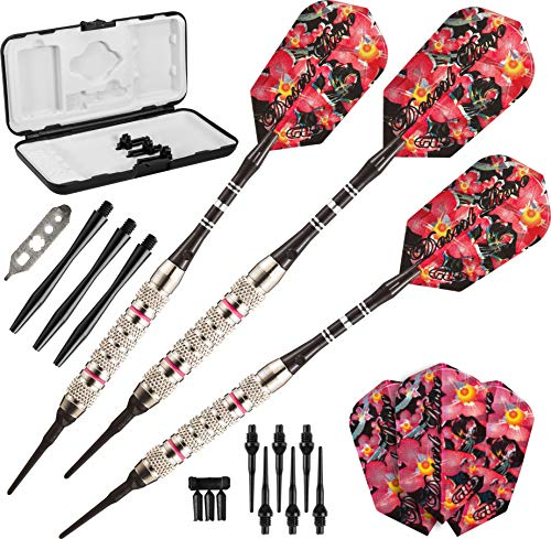 Viper Desert Rose Soft Tip Darts with Storage/Travel Case, 16 Grams