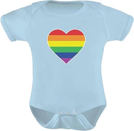 LGBTQ Proud Gay Pride Parade Rainbow Flag Infant Fine Jersey Bodysuit Onesie