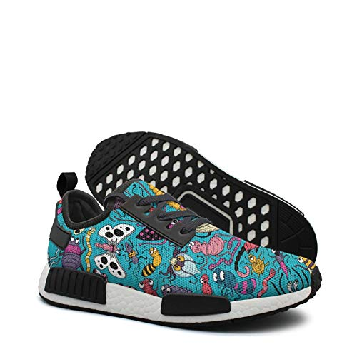 Insects Caterpillars bugs patterns distance running shoes womens nmd gum